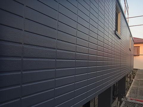 南面ベランダ外壁塗装 オーシャングレー おしゃれカラー 熊本〇様宅塗装状況