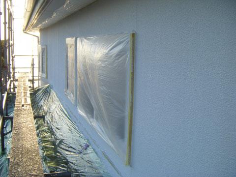 複層防水弾性塗装1回目完了。 熊本県H様邸