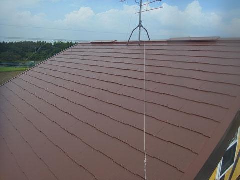 コロニアル屋根の塗り替え。 高耐久遮熱塗装完成です。熊本〇様宅