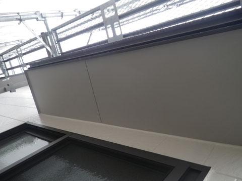 熊本市N様家の外壁塗装及び屋根塗装時。軒天井塗装完成です。防カビ塗料を使用しました。。