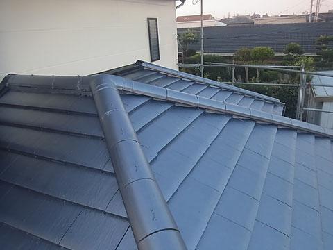 瓦屋根の塗り替え完成。AFTER 熊本〇様宅