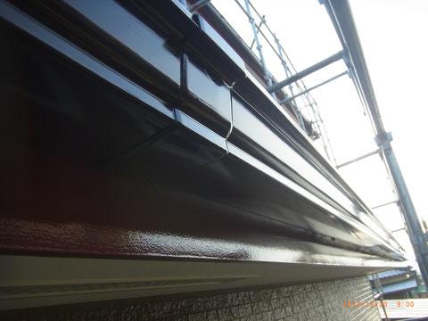 熊本の外壁塗装。 幕板・樋塗装完成。