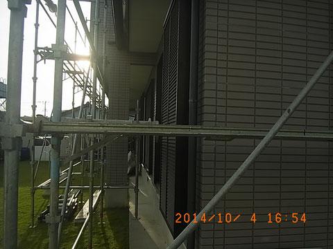 熊本市東区I様家外壁塗装・屋根塗装時。外壁塗装前状況。