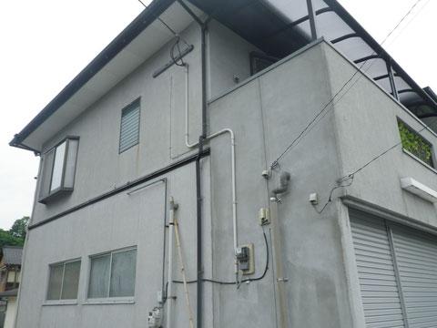 熊本I様家の外壁塗装と屋根塗装前です。南面から撮影しました。
