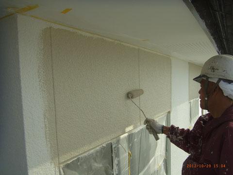 熊本県T様邸 外壁仕上げ塗装1回目