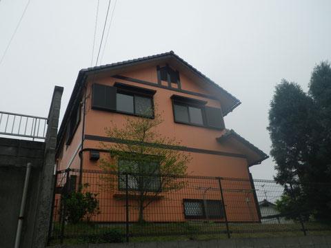 外壁塗り替え完成!関西ペイント高耐久シリコン塗料使用。西面外壁