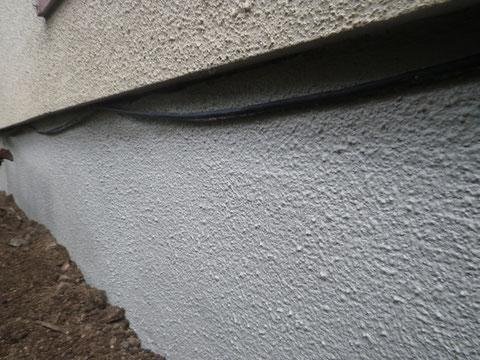 熊本市〇様家の外壁基礎巾木シロアリ薬剤予防塗装工事完成です。カラー:グレー