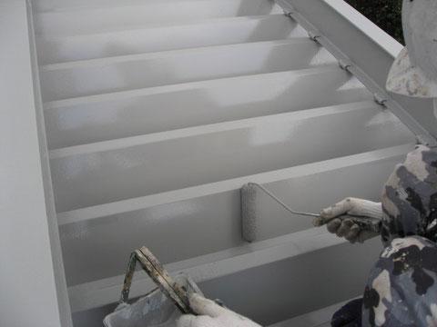 熊本市東区折半屋根手塗り