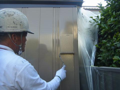 熊本〇様邸 外壁塗装中 仕上げ