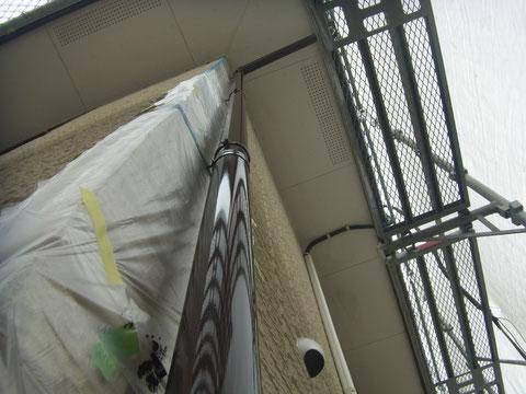 熊本県K様邸 樋塗装仕上がりの様子。