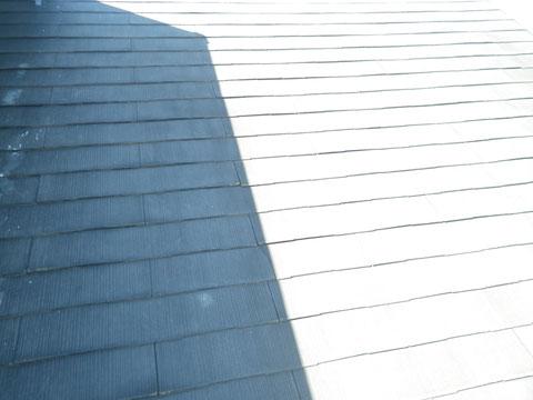 軽量スレート・コロニアル屋根の塗り替え前BEFORE