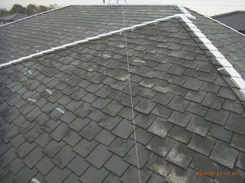 屋根・錆止め塗装・プライマー処理。熊本T様邸。