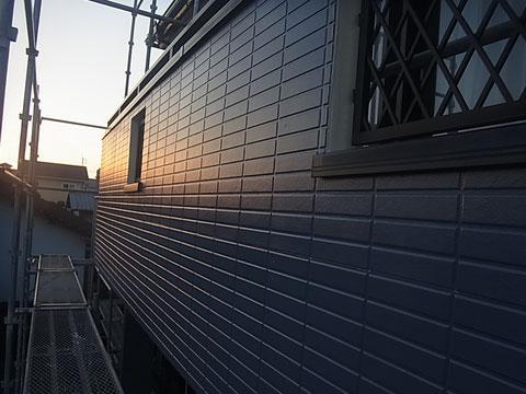 南面ベランダ外壁塗装 オーシャングレー おしゃれカラーむしゃんよか 熊本〇様宅塗装状況