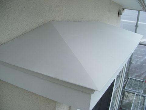 熊本県H様邸 庇屋根の錆止め塗装