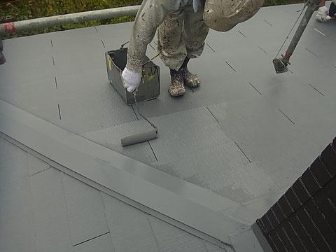 コロニアル屋根 高耐久遮熱塗装中 熊本I様邸
