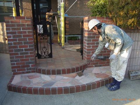 熊本T様邸塗装工事完成後の清掃状況。
