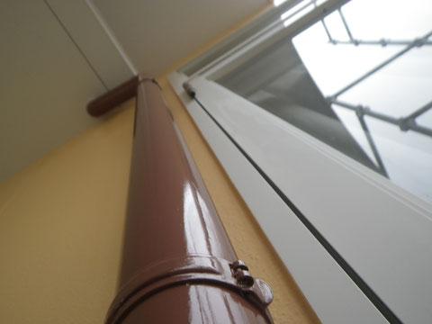 熊本市N様家。樋の塗り替え完成。関西ペイント高耐久シリコン塗料使用。