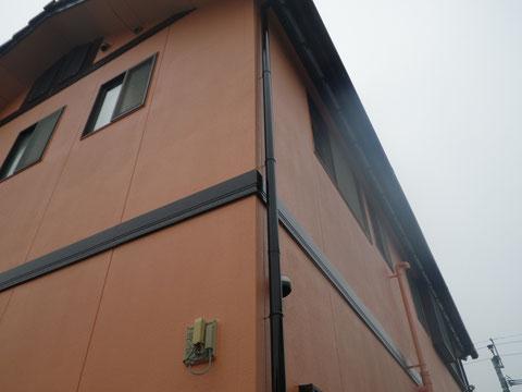 外壁塗り替え完成!関西ペイント高耐久シリコン塗料使用。北面外壁