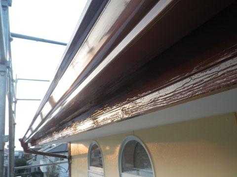 熊本市N様家。 幕板・トイをおしゃれなカプチーノブラウンで塗替え完成。