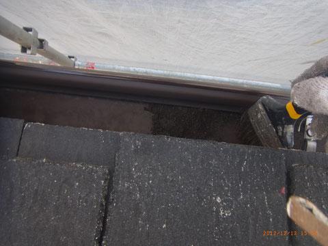 熊本T様宅。屋根塗装時トイの清掃。