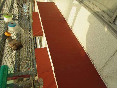 鉄板庇屋根錆止め塗装