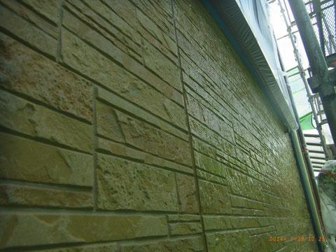 柄模様サイディング保護クリアー塗装 熊本Y様邸