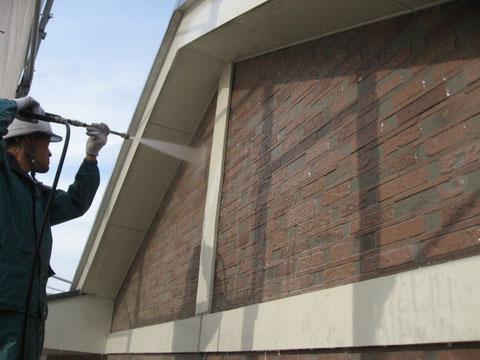 高圧洗浄 外壁 熊本市東区