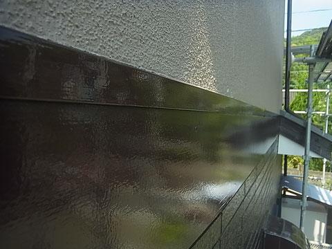 F☆☆☆☆高耐久・低汚染・防カビ塗料でサイディング帯を仕上げました。 熊本I様邸