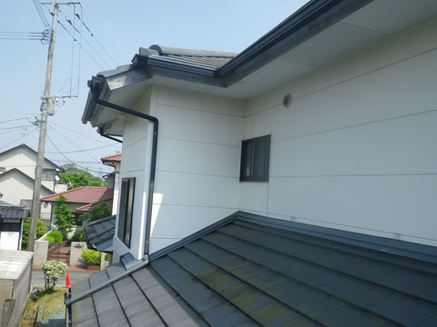 熊本I様邸 屋根塗装 外壁塗装状況。 塗装前BEFORE