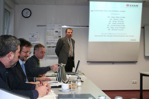 Dr. Eickhof predstavi institut Exam - Foto: Z. Simon