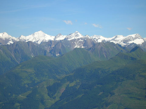 Blick in die Gletscherberge der Hohen Tauern
