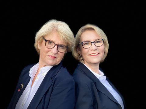 Cornelia Kuhnert (links), Christiane Franke (rechts); © Privat