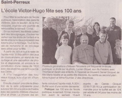 Ouest-France du 10 avril 2006