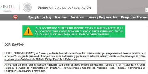 CLIK PARA VER D.O.  Y  LISTADO DEL 17 DE  JULIO 2014