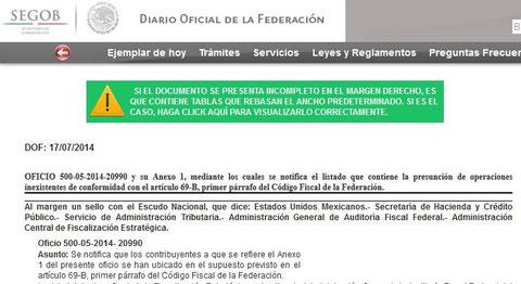 CLIK PARA VER DIARIO OFICIAL DEL 17 DE JULIO 2014