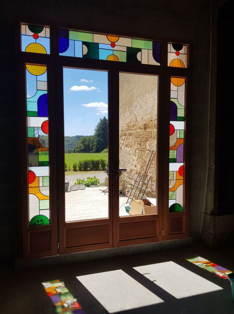 vitrail floral stained glass atelier oliverre