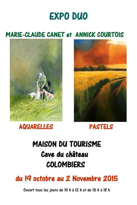 Affiche de l'exposition à Colombiers