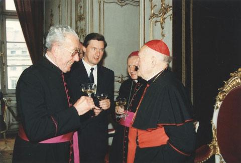 1990 mit Kardinal Tomasek in Prag