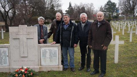 Mars 2018 Nécropole de Cronenbourg Jean Michel et  des anciens de l'Armée de l'Air