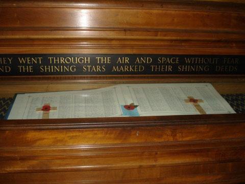 Le livre d'or des pertes de la RAF dans les comptés du Yorkshire, Duram, Northumberland