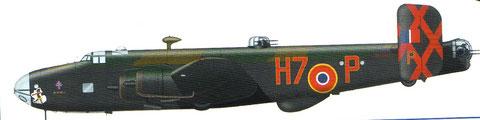 Profile du NA 564-P le Halifax sur lequel ils ont effectué le plus de missions