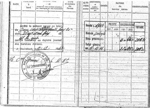 Lieutenant Joumas carnet de vol Bamako