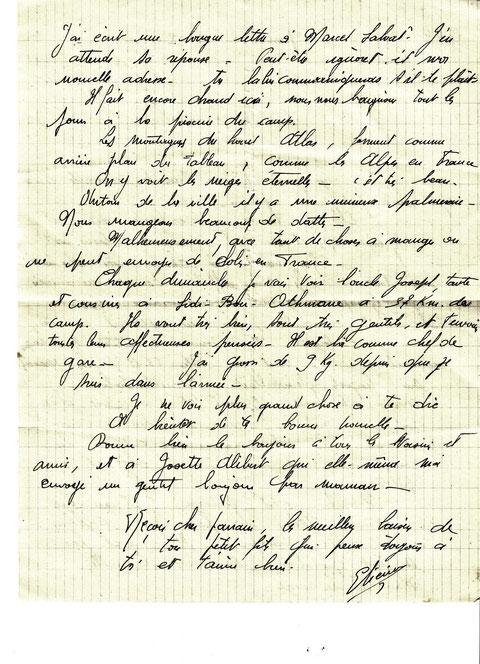 lettre à son parrain Marrakech novembre 1941/ 2