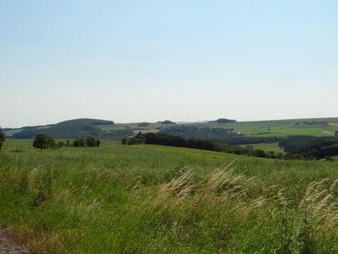 Le paysage à proximité du lieu du crash