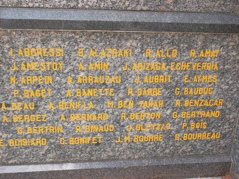 Le nom de Guy Bourreau sur ce monument