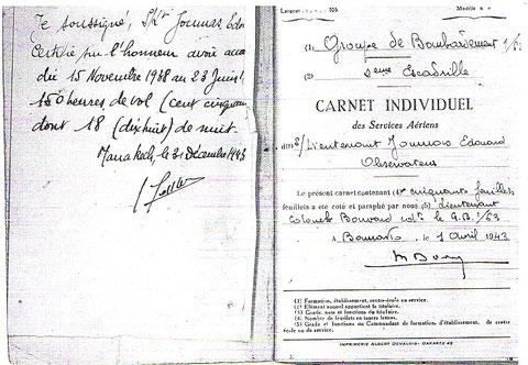 Lieutenant Joumas  Carnet individuel Bamako 1943