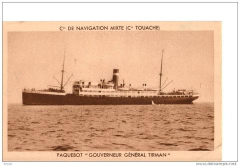 Le bateau sur lequel il partit en AFN en 1941