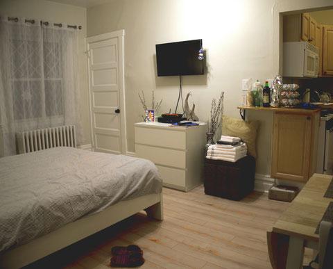 Meine Airbnb-Wohnung in Pittsburgh: klein aber fein.