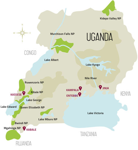 Ugandas Nationalparks