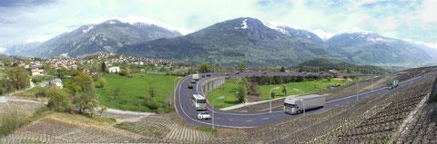 Simulation avec route cantonale